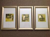 Set of 3 John Lewis Framed Pictures
