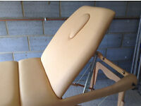 Massage Couch Treatment Couch. Portable, clean, adjustable, good condition