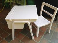 Child's desk and chair.