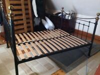 Feather and Black king size metal bed frame