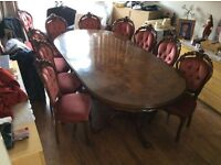Table and 12 chairs