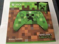 Xbox one minecraft creeper wireless controller brand new sealed