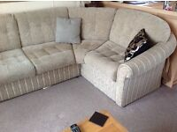 Static home corner sofa bed,re upholstered last year