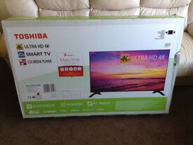 Toshiba 49 Inch 4K Ultra HD LED Smart TV+Freeview Play (49U5663DB)-Brand New & Sealed with warranty