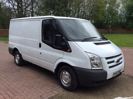 2008 57 Ford transit swb low roof,white,no vat,may px,side loading door