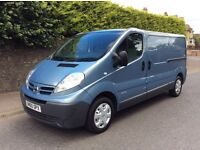 2011 model 60. nissan primaster same as traffic/ vivaro special edition in the very rare lwb fsh