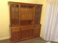 Traditional wall unit solid wood