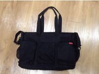 Skip Hop duo double black changing bag.