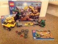 Lego City Excavator transporter truck set