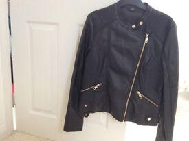 Women's black biker jacket