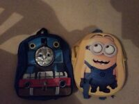 Thomas the tank and minions rucksack both for £3