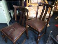 Set of 4 vintage oak chairs