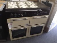 Leisure chefmaster 100cm range with glass lid. £850 RRP £1099. New/graded 12 month Gtee