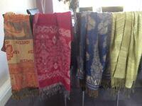 4 Pashminas/Shawls/Wraps Avg Size 180cm x 70cm