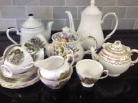 A selection of general crockery and China