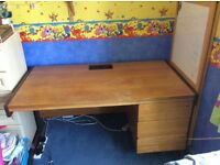 Large desk with spacious three drawers