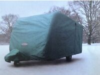 Caravan And Hitch Cover. Specialised heavy duty Cover made for Swift 2 berth Caravan. Brand New