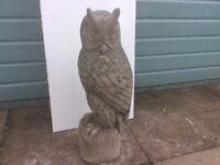 Concrete garden owl ornament