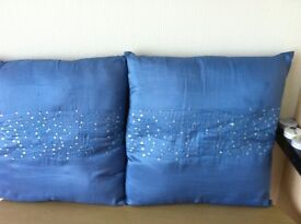 several cushions in 2 pictures