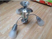 2 x chrime silver light fittings