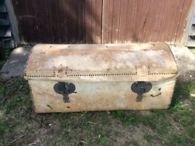 Good Pony Skin Domed Trunk with lovely lining.