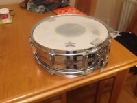 Vintage Royal Star (Tama) steel snare drum.Immaculate and all original.