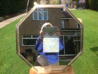 Mirror brass framed