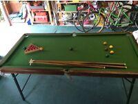 Snooker table. 6' x 3' ....Ray Reardon good condition.
