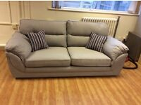 3 Seat Grey Fabric Eden Sofa - Ex Display - £249 Including Free Local Delivery (RRP - £429)