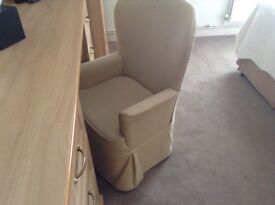 Bedroom chairs in good condition . Selling because of refurbishment .colour cream.must pick up .