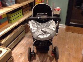 Mothercare Spin Pram & Pushchair. Excellent condition. Includes raincover