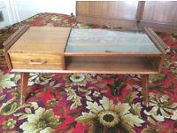 1950s Vintage G Plan E Gomme Brandon Oak Coffee Table