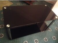 Black glass coffee table and TV stand in Aylesbury