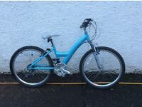 Girls Skye revolution mountain bike pale blue 8 to 12 years