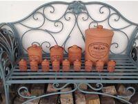 The Original Suffolk Crock Henry Watson Pottery Set - Bread, Herbs, Tea, Coffee, Sugar etc.