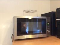 Stainless steel and black Microwave