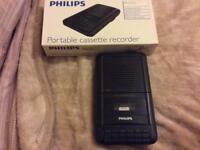 New Philips cassette recorder