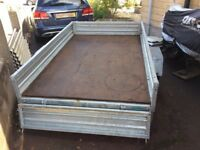Trailer, 8x5 galvanised Drop side Paxton built trailer