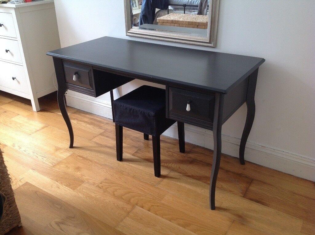 Ikea Edland Dressing Table Desk Slate Grey With Stool Included