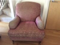 Laura Ashley vintage style easy chair excellent condition .