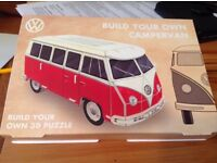 3D vw camper van puzzle build your own campervan
