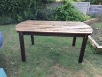 Large Hardwood Garden Table 180cm x 92 cm approx