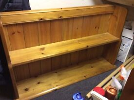 2 x Solid Pine Wall Shelf / Shelving Unit - great condition - could be painted