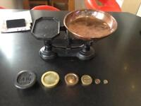 Antique cast iron weighing scales