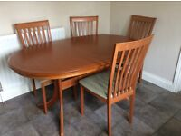Table, Chairs and 3 Display Cupboards