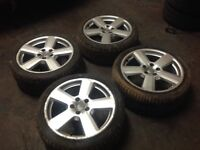 """Set of Genuine RS6 Ronal 18"""" Alloys and Tyres 235X40X18 Approx 6/7 MM Tread"""