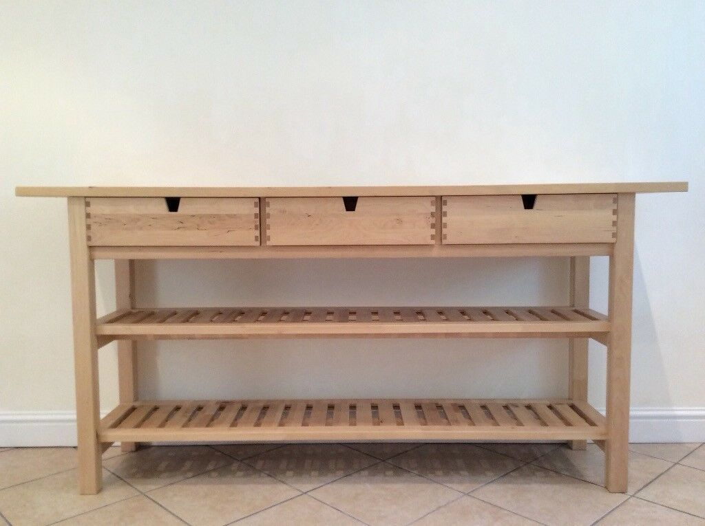 Ikea norden occasional table kitchen island butchers block excellent condition in - Table ikea norden ...
