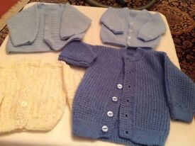 Baby hand knitted cardigans all are new never worn £4 each