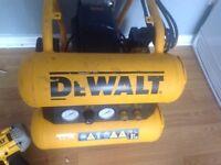 Dewalt air compressor plus 2 dewalt nail guns and dewalt laser level