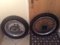 Nos Honda XR650R wheels and tires complete set up brand new!